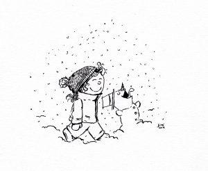 Erster Schnee (Tusche)