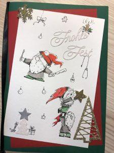 Weihnachtskarte für Ärzte (Tusche, Aquarell)