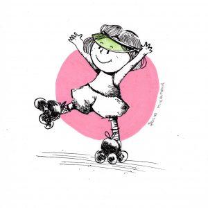 Retro_Skate (Tusche, Aquarell)
