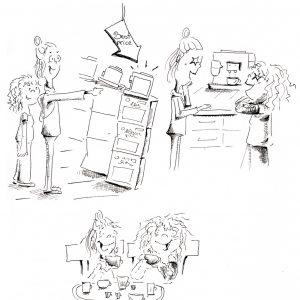Comic Kaffemaschinenkauf